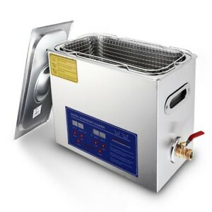 Commercial Ultrasonic Cleaner 6l Large Capacity Stainless Steel Digital Timer