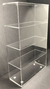 Acrylic Cabinet Counter Top Display Showcase Box 12 x8 x16 Display Box Acrylic