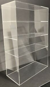 Acrylic Cabinet Counter Top Display Showcase Box 12 x8 x19 Display Box Acrylic