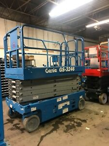 2016 Genie Gs3246 Scissor Lift With New Batteries Awp Manlift Jlg