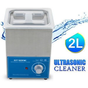 Pro 2l Ultrasonic Cleaner Timer Stainless Steel Tank Industrial Commercial Grade