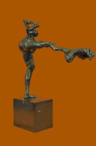 Hand Made Bronze Sculpture Collector Edition Female Woman Marble Base Figurine