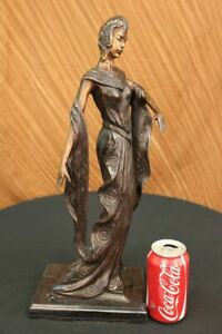 Hand Made Hot Painted Bronze Figure Sun Dancer By Juliet Erte Figurine Figure