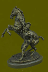 Hand Made Milo Excited Rearing Horse Bronze Sculpture Figurine Statue Hot Cast