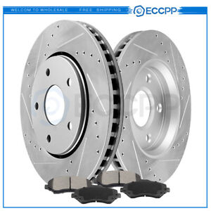 For 2008 2016 Dodge Grand Caravan 09 13 Vw Routan Front Brake Rotors Ceramic Pad