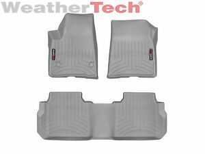 Weathertech Floorliner Mats For Gmc Acadia W Bench 17 19 1st 2nd Row Grey