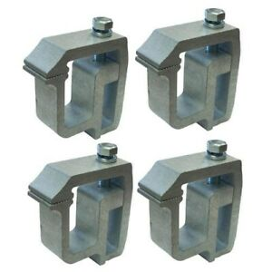 Four Universal Hd Camper Canopy Shell Topper No Drill Aluminum Clamp Bracket