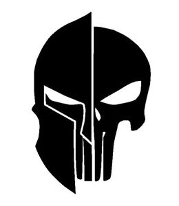 Punisher Spartan Vinyl Decal Custom Sticker Window Tumbler Cooler Cell