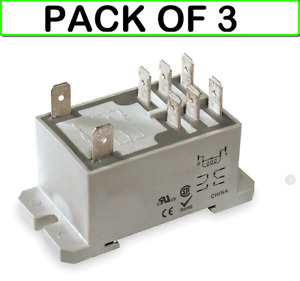 3 pack Dayton 1ejg7 Relay power dpdt 120vac coil Volts