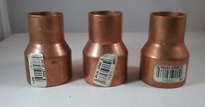Lot Of 3 Nibco Cl600r Cxc 1 1 2 x1 Reducer Wrot Copper Slip Coupling Free Ship