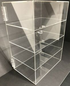 Acrylic Counter Top Display Case 12 x 9 5 X16 locking Cabinet Showcase Boxes