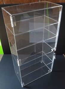 Acrylic Counter Top Display Case 12 x 6 5 X23 5 locking Cabinet Showcase Boxes