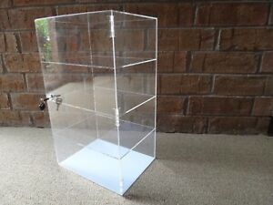 Acrylic Counter Top Display Case Acrylic Locking Show Case shelves 12 x6 x19