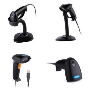 Usb Barcode Scanner With Stand Handheld Automatic Reader Laser Upc Ean Code
