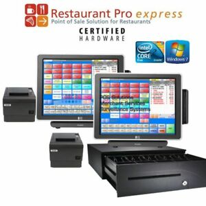 Pcamerica Pos System Rpe Restaurant Pizza Bar Pro Express 2 Stations 3gb Ssd Hdd