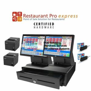 Pcamerica Pos System Rpe Restaurant Pizza Bar Pro Express 2 Stations 4gb Ssd Hdd
