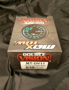 Maxtow Series Fuel Pressure 100 Psi Gauge 52mm Electronic Sending Double Vision