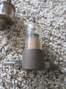 Brass Drip Oiler Fuel Filter Gas Engine Steam Unkown Maker Vintage Antique