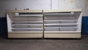 Hussmann Fresh Meat Cooler Open Display Case Merchandiser 16ft