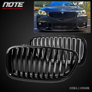 Gloss Black Kidney Front Mesh Grille For Bmw 5 series F10 F18 2010 2013