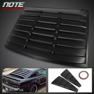 Side 1 4 Window Louver Cover Rear Back Window Louver For 05 14 Ford Mustang Gt