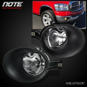 For 2002 2008 Dodge Ram 1500 2003 2009 2500 3500 Fog Light Bulbs Black Bezel