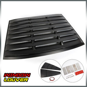 For 05 14 Ford Mustang Gt Rear Window quarter 1 4 Side Window Louver Scoop Cover