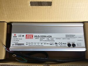 Mean Well Hlg 320h 42a Ac dc Power Supply Single out 42v 7 65a 321 3w 5 pin New