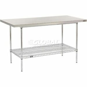 60 W X 30 D Stainless Steel Top Wire Work Table