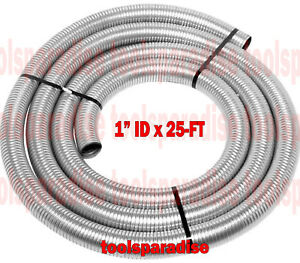 Auto Exhaust Flex Pipe Connector 1 Id X 25 Ft Long Flexible Steel Tubing 1 In