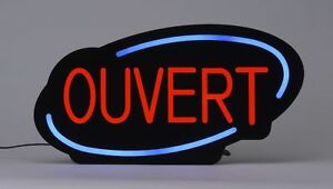 Royal Sovereign Rsb 1342f Led Open Sign With Business Hours French Black