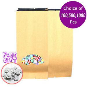 3 5x8 5in Kraft Paper Wholesale Open Top Pouch Bag Silica Gel Desiccant N01