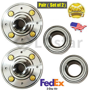 Pair 2 Front Wheel Hub Bearing Set For Honda Civic Ex Civic W Abs Acura In