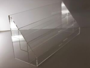 Acrylic Card Holders Greeting Card Display Rack Counter Top Display With 3 Tier