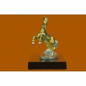 Hand Made Bronze Sculpture Show Horse French Thoroughbred Horse Figurine 24k