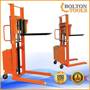 Bolton Tools Electric Powered Lift Hand Stacker 2200 Lb Eqsd100c