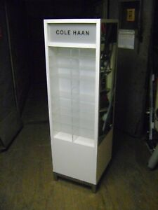 White Retail Lighted Cole Hann Eye Wear Sunglass Display Case Stand