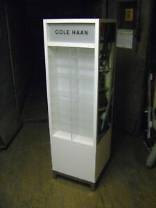 White Retail Lighted Cole Hann Eye Wear Sun Glass Display Case Stand