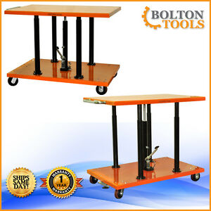 Bolton Tools 2200 Lb Center Post Hydraulic Lift Table Cart Pt 20 3248