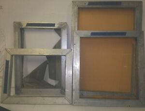 Lot Of 4 Solid Aluminum Silk Screen Frame 4 Different Sizes see Below