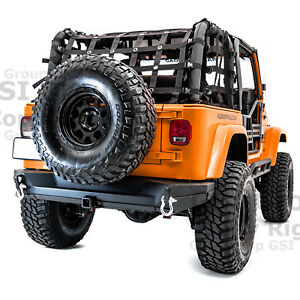 2x Plate Rock Crawler Rear Bumper 2 Receiver Hitch For 97 06 Jeep Wrangler Tj