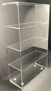 Acrylic Cabinet Counter Top Display Showcase Box 16 x6 x16 Display Box Acrylic