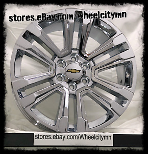 20 Inch Chrome 2018 2017 Chevrolet Tahoe Ltz Oe Factory Replica Wheels 6x5 5 24