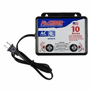 Electric Powered Fence Charger 10 Acres Horses Deers Cows Sheep Cattle Goats