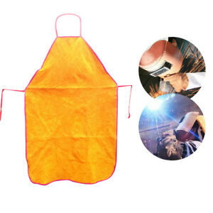 Welding Apron Whole Split Cowhide Flame resistant Leather Bib Apron Weld Tool