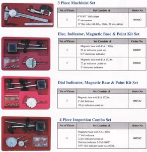 All New Dial Indicator Magnetic Base 22 Point Kit Set
