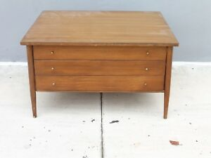 Rare Paul Mccobb Connoisseur Collection 3 Drawer Low Table By H Sack