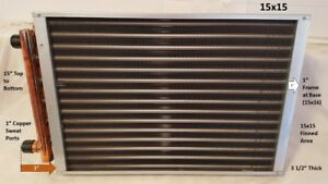 Water To Air Heat Exchanger 15x15 1 Copper Ports
