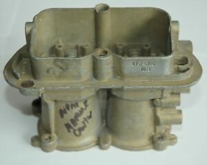 1970 S 6106 Holley Six Pack Center Carburetor Body Used On Marine Applications