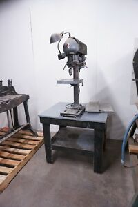 1940s Antique vintage Delta Drill Press Model Dp 220 1 2 Jacobs Chuck 100 Volt